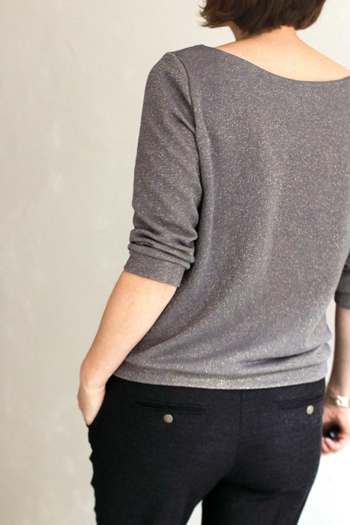 Glitzersweater - Schneidersitz