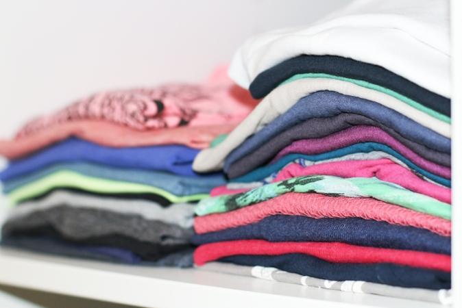 T-Shirt-Stapel