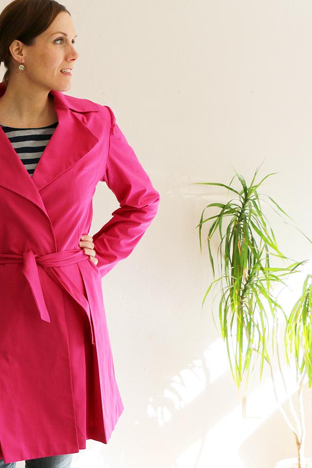Mantel in Pink - Schneidersitz