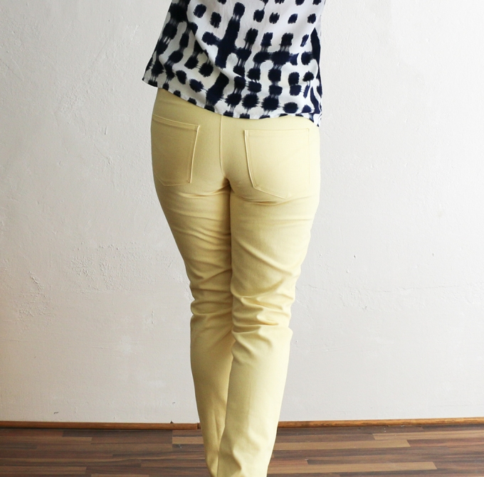 Ginger Jeans in Gelb - Closet Case Patterns - Schneidersitz